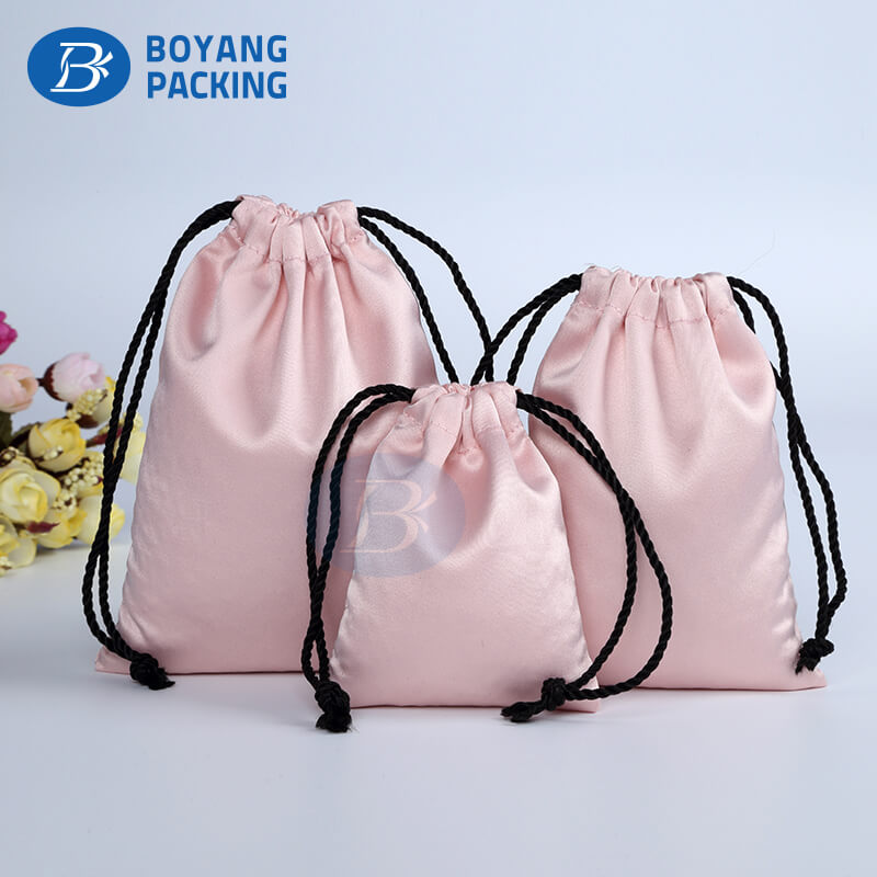 personalized satin drawstring bags