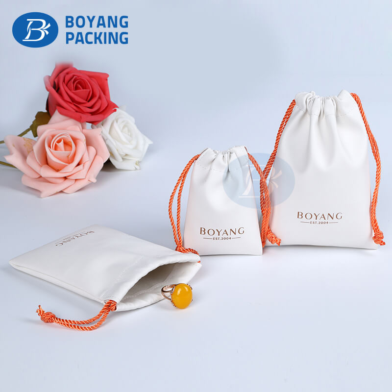 Pu jewelry pouch factory
