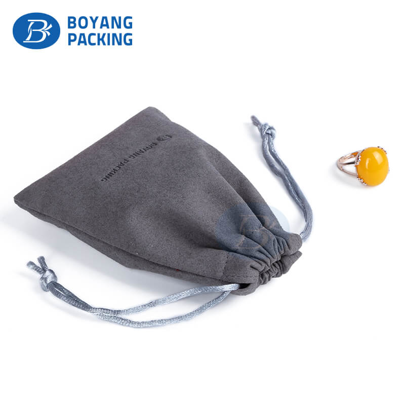 Custom jewelry pouches velvet drawstring pouch Factory in China