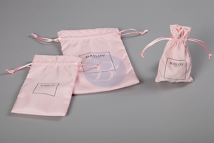 pink satin wholesale drawstring bag factory