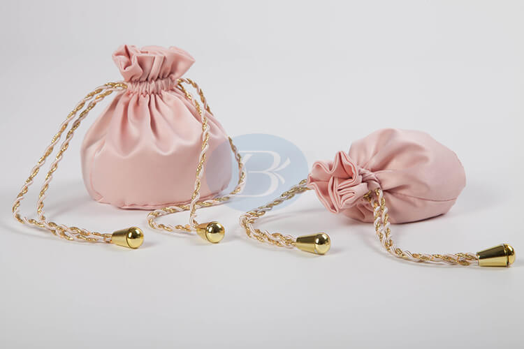 custom pink satin jewelry bags manufacturer