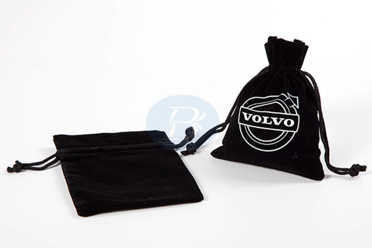 clear and beautiful logo velvet pouches wholesale manufacturer