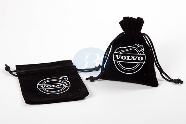clear and beautiful logo velvet pouches wholesale factory