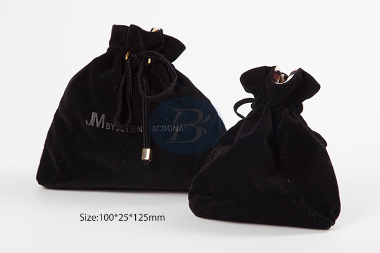 Superior quality black velvet jewelry pouches