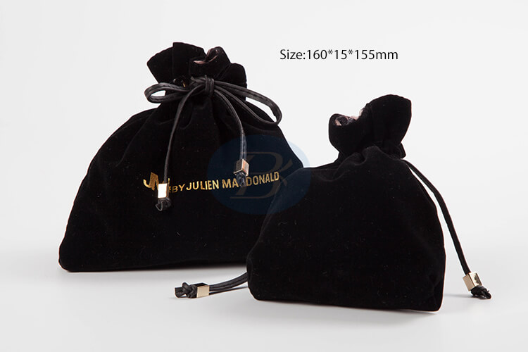 beautiful design black velvet jewelry pouches