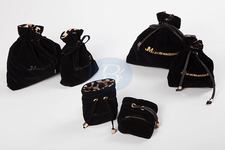 black velvet jewelry pouches