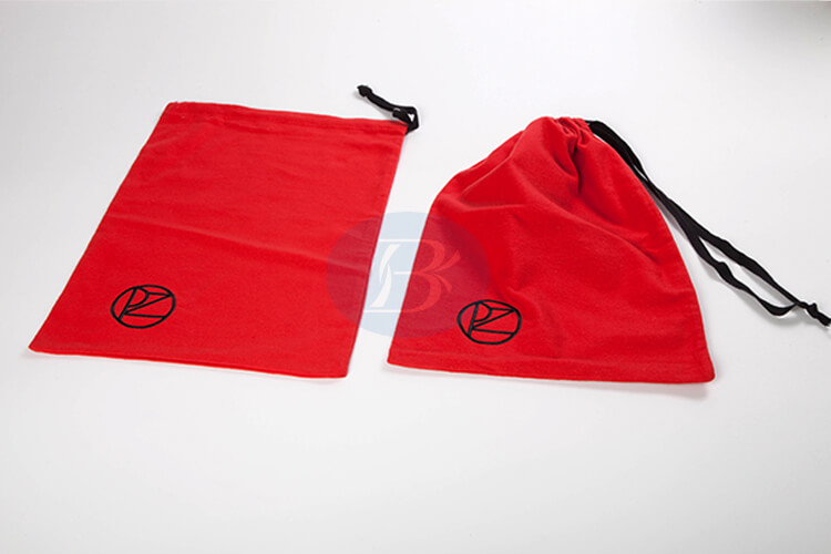 custom red dust cotton pouch wholesale