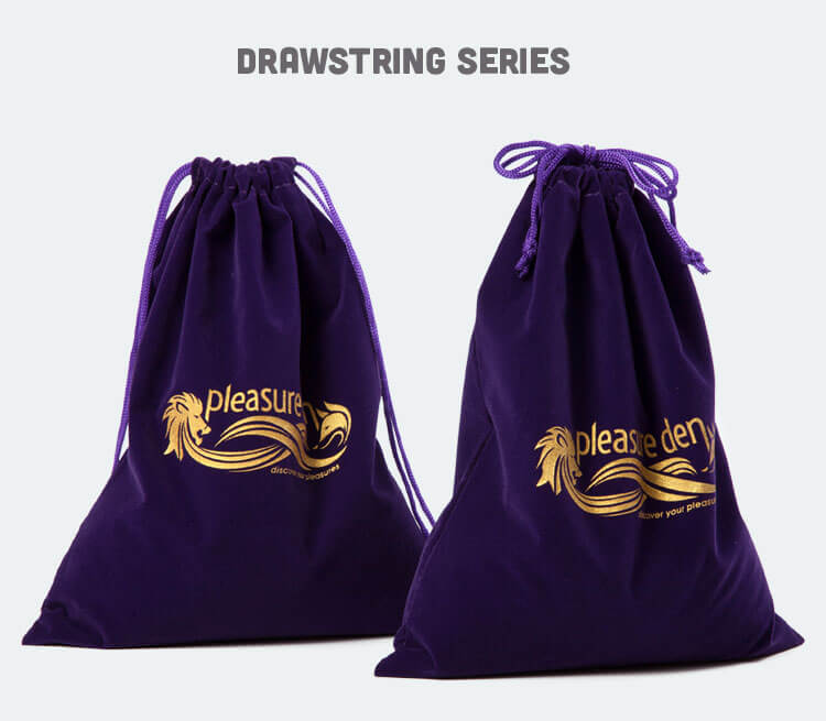custom violet velvet bags wholesale