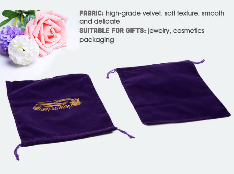 custom violet velvet bags wholesale manufacturer