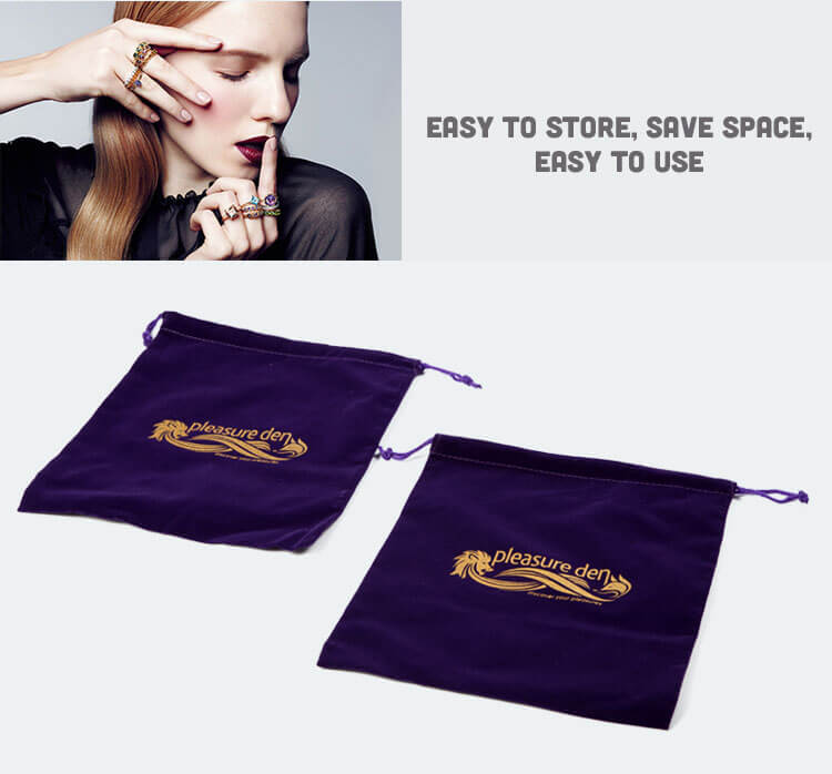 custom violet velvet bags wholesale factory