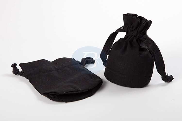 small black drawstring pouch factory