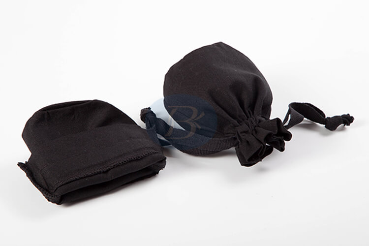 small black drawstring pouch wholesale