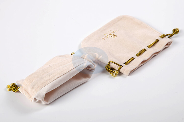 custom delicate charming drawstring pouches for jewelry factory