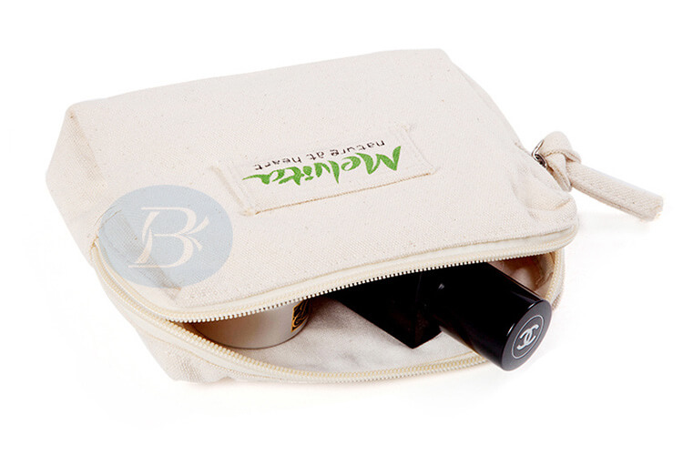 white canvas zipper pouch factory