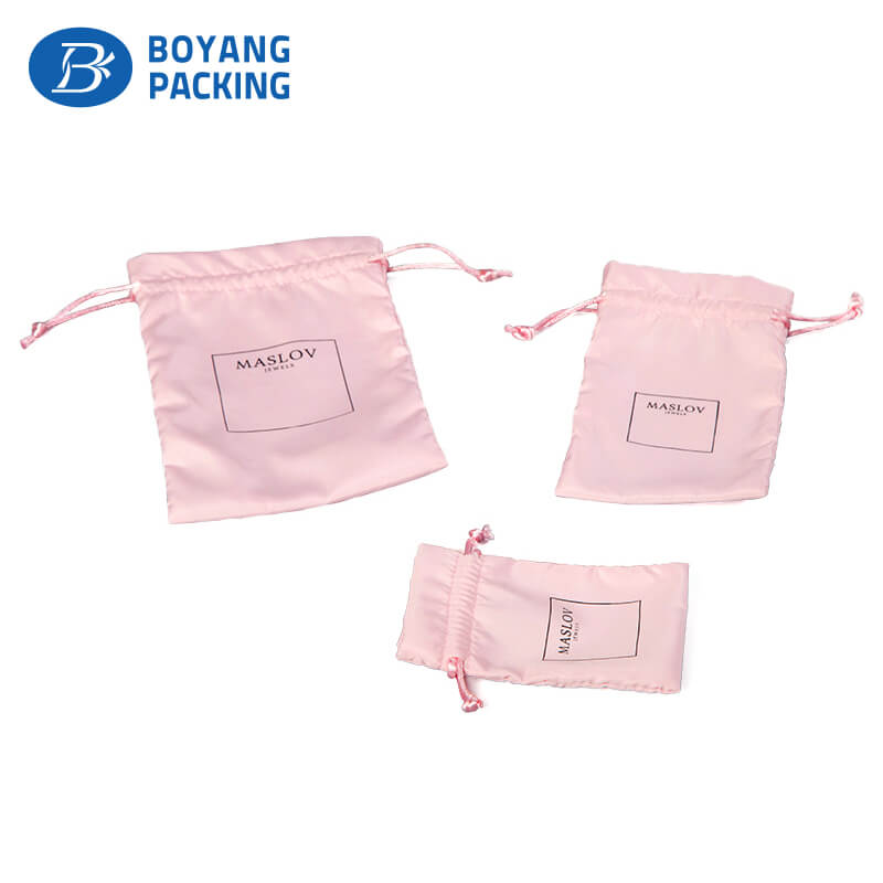Satin bags production and wholesale factory