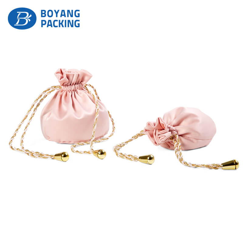 custom satin drawstring bags wholesale factory