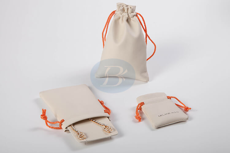 small leather jewelry pouch exquisite style