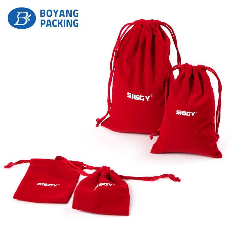 Red large velvet bags pouches, dust pouch supplier