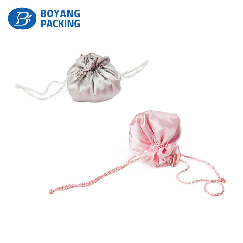 satin drawstring pouch jewelry bag