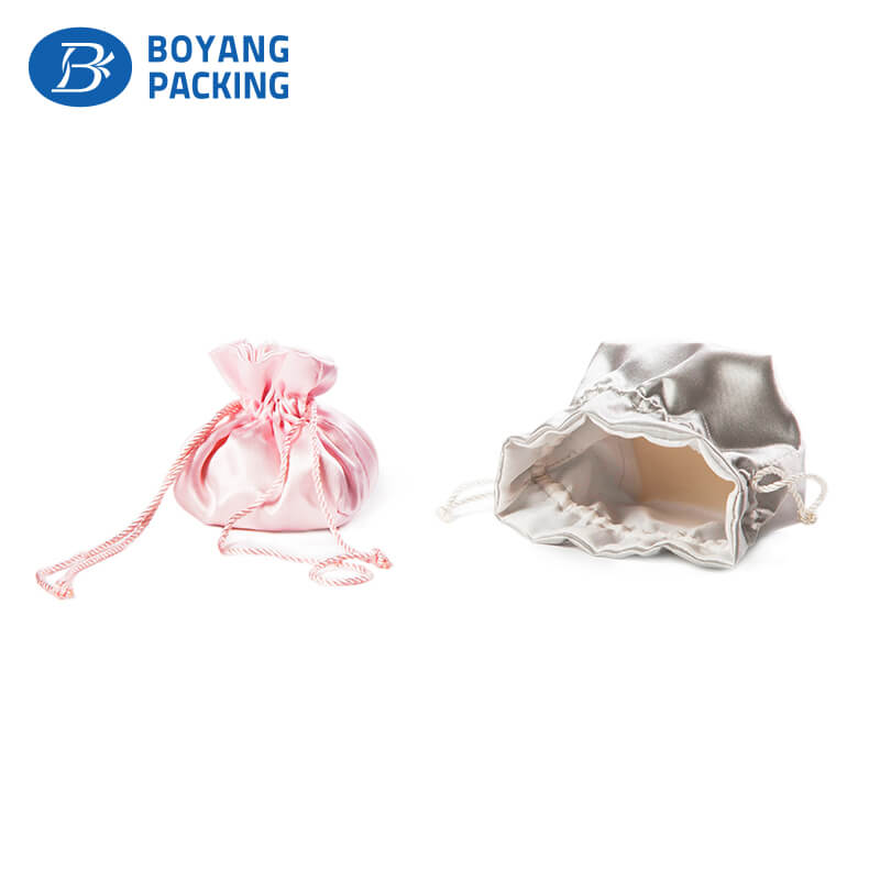 satin drawstring pouch jewelry bag factory